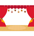 Colorful christmas Theatre podium with decoration vector image