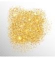 Gold sparkles on white EPS 10 vector image