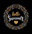 Handwritten summer sale in vector image