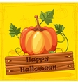 Happy Halloween Autumn Orange Pumpkin Vegetable vector image
