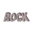 Rock Lettering of stones Letters from crag vector image