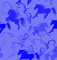 Seamless pattern of racing horses vector image