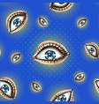 seamless pattern with creepy eyes wide open bright vector image