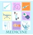 set health medicine vector image
