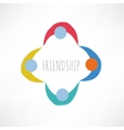 society abstract icon vector image