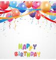 Celebration balloon with confetti vector image