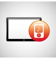 tablet technology icon player mp3 vector image