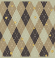 seamless blue argyle pattern with chaotic golden vector image