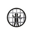 Prisoner in the prison vector image