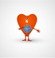 Angry heart is target vector image