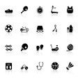 Fitness sport icons with reflect on white vector image