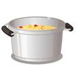 Pot of soup vector image