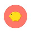 Money Pig Flat Icon vector image