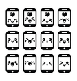 Japanese cute Kawaii character - mobile or cell ph vector image