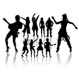 silhouettes handmade dancing and singing vector image