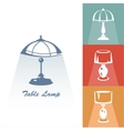 Reading-lamp vector image
