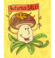 Autumn sale shopping background vector image