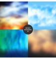 Abstract backgrounds set vector image