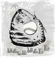Baseball glove vector image