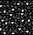 black and white medicinal seamless pattern design vector image