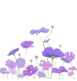 Bright floral background vector image
