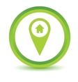 Green Home pointer icon vector image