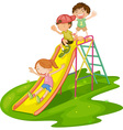 Kids at a park vector image
