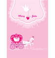 Pink Greeting Card with a lace ornament vector image