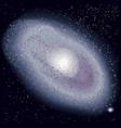 realistic universe cosmos background vector image