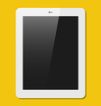 The tablet in ploskjv style vector image