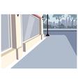 City Sidewalk Scene Vector Image