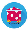 icon pot on the fire vector image