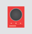 Music player 41 vector image