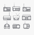 Radio isolated objects set vector image