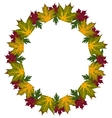 Frame of leaves vector image