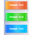 multicolored banners vector image