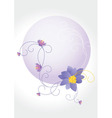 violet round Converted vector image vector image