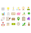 Business isolated strategy icons set vector image vector image