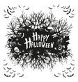abstract inscription Happy Halloween vector image