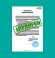 approved paper document vector image