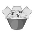 chinese noodles box icon monochrome vector image