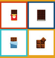 flat icon cacao set of cocoa chocolate bar vector image