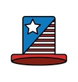 hat with usa flag icon vector image