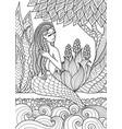 mermaid 6 vector image