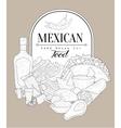 Mexican Food Vintage Sketch vector image