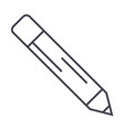 pencil line icon sign on vector image