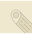 pin icon with outline shadow vector image