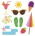 Summer icons and vector image