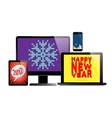 Electronic new year set vector image