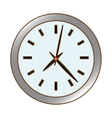 silver wall clock icon image vector image